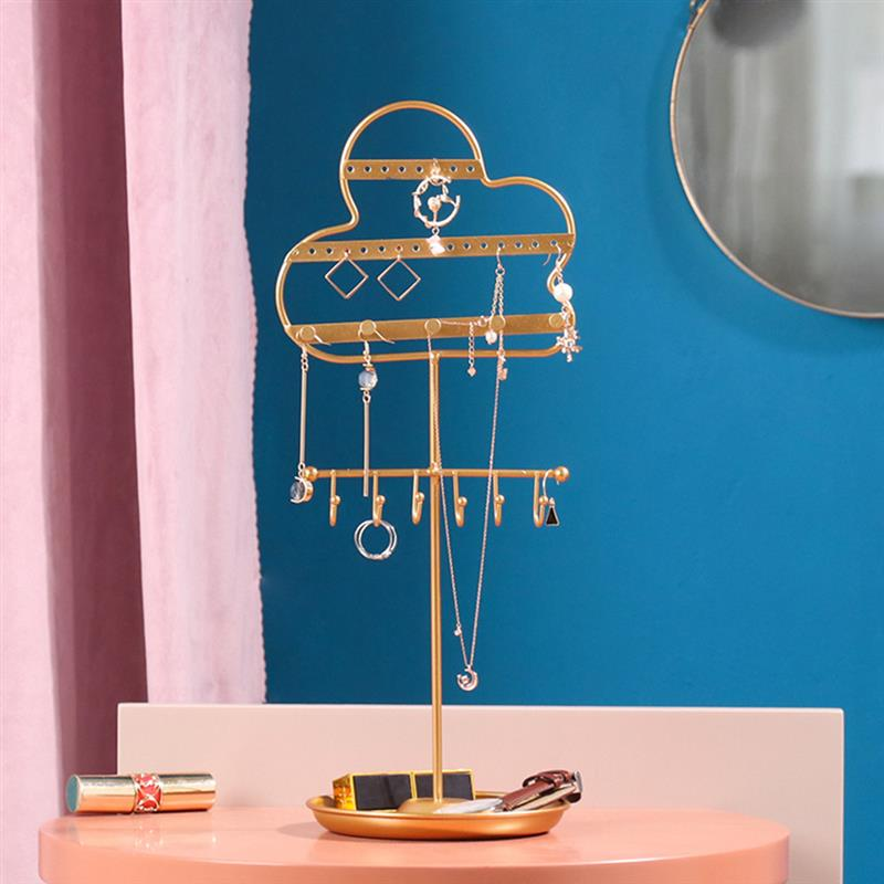 Jewelry Stand Holder Cloud Bird Jewelry Display Organizer Earring Necklace Bracelet Hanging Storage Rack for Home