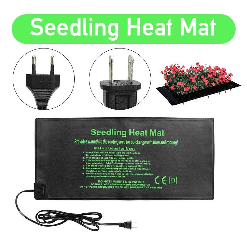 52x24CM EU/US plántulas estera de calor a prueba de agua planta de germinación de propagación clon Starter almohadilla caliente Mat suministros de jardín