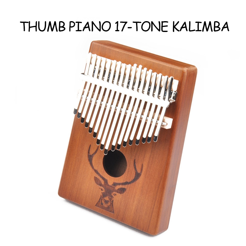 For Kalimba Mahogany Woody Mbira Musical Instrument Africa Finger Piano Travel Souvenirs Decorations17 Key Thumb Finger Piano enlarge