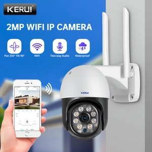 KERUI 2MP WIFI Dome IP Camera Outdoor Waterproof Wireless CCTV Camera Home Security Two-way Talk Night Vision Alarm Camera