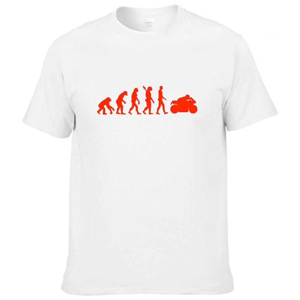 Fengfancool marca masculina moto t camisa hommes moto d ete a manches courtes o pescoço coton hommes fahion t-shirts topos