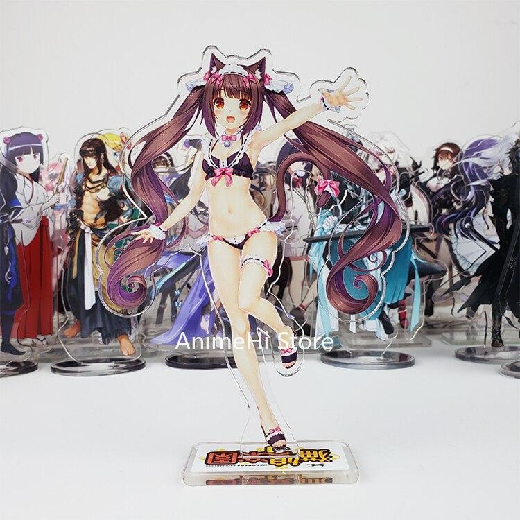 Anime nekomimi paraíso figura de ação cosplay brinquedos nekomara baunilha maple azuki coco figuras acrílicas modelo bonecas 15cm
