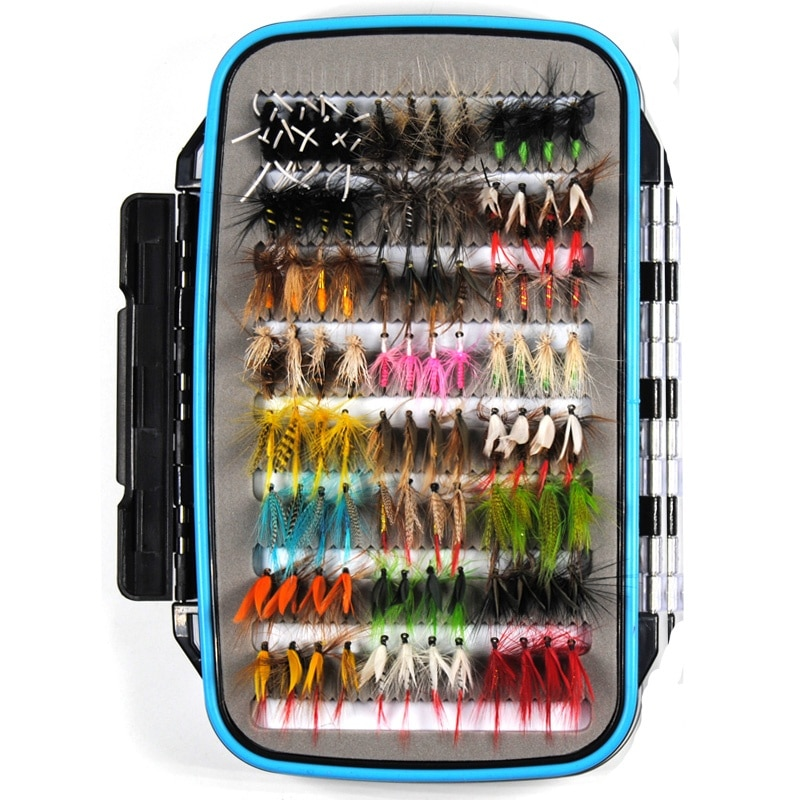 184Pcs Assorted Fishing Fly Case Set Wet Dry Nymph Fly Fishing Lure Box Set Fake Fly Lures For Trout Grayling Panfish Fish enlarge