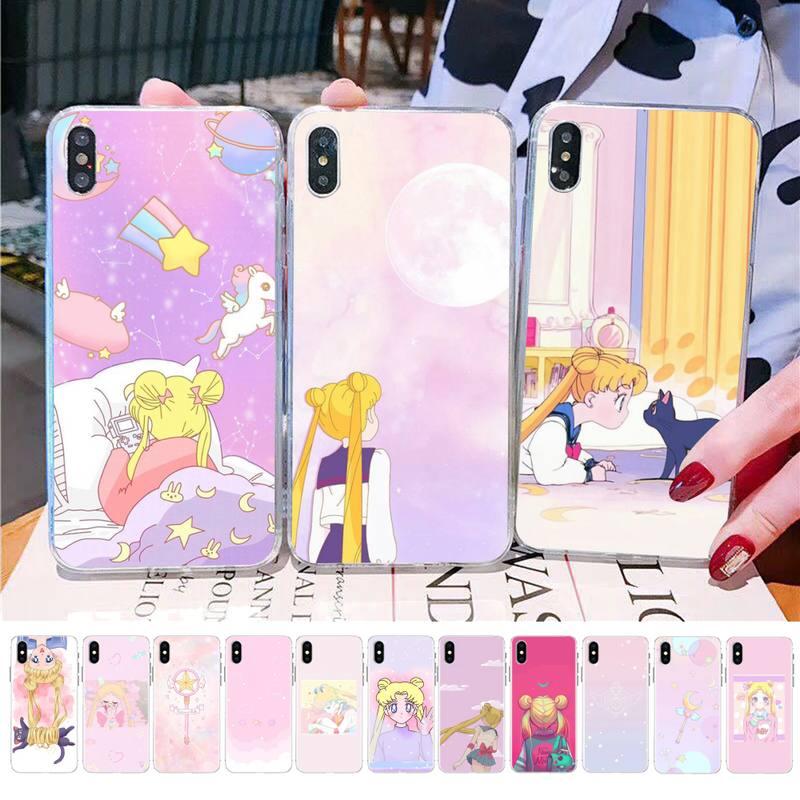 MaiYaCa Vaporwave Pixel Vintage Sailor Mond Ästhetischen Kunst Telefon Fall für iPhone 11 12 pro XS MAX 8 7 6 6S Plus X 5S SE 2020 XR