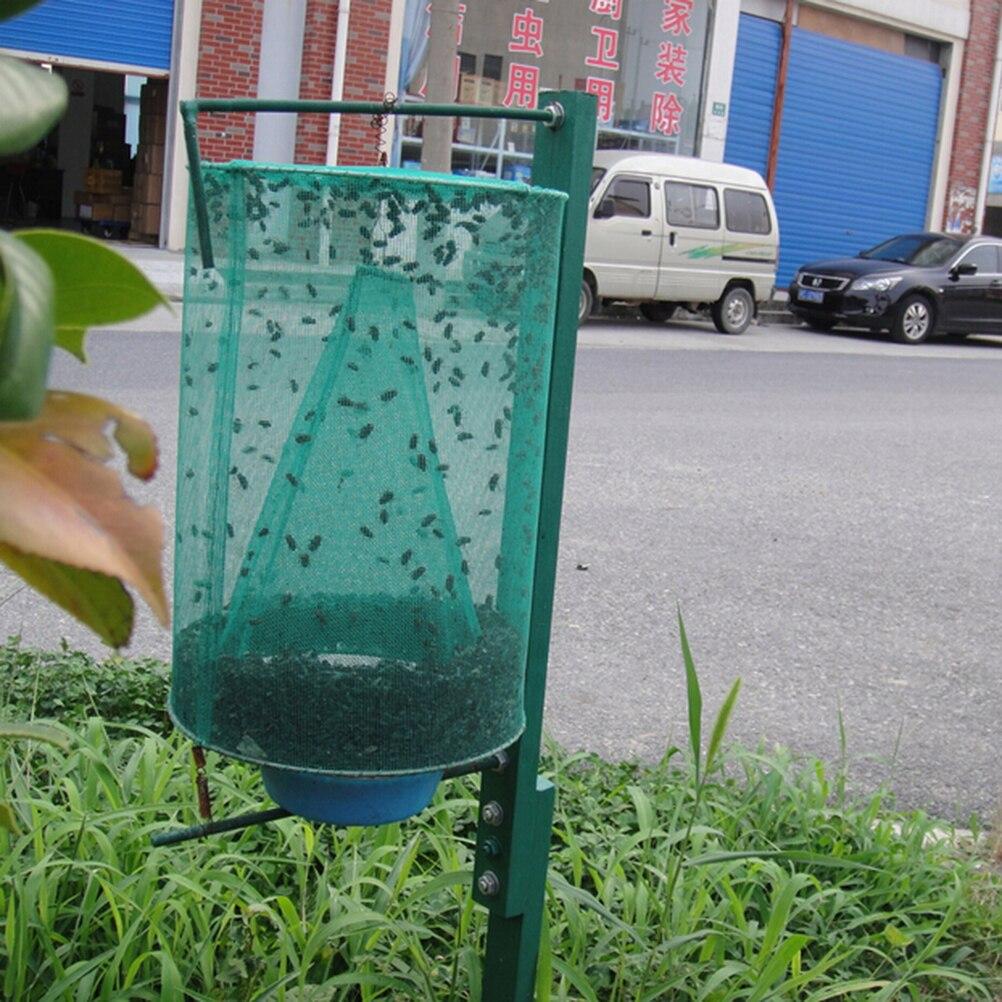 Verde quente fly catcher assassino gaiola net armadilha inserção bug pragas pendurado coletor