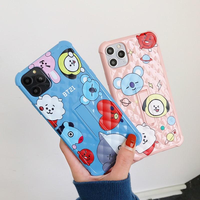 Заводская цена, подставка, мультяшная Овечка, розовый, синий, чехол для телефона, чехол для iphone 11 Pro Max 7 8 Plus X XR XS Max