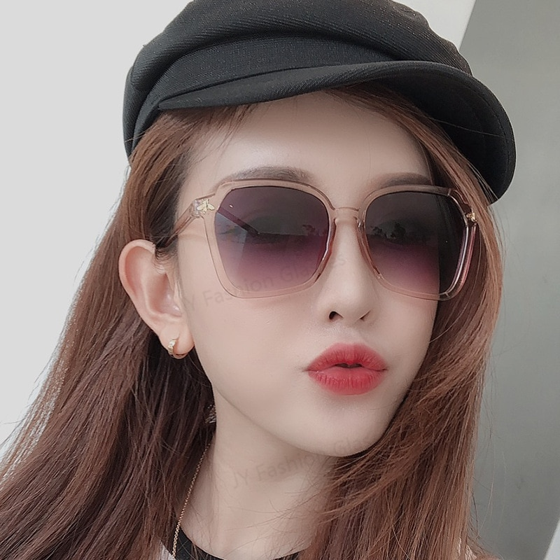 New Fashion Large Frame Sunglasses Men Women Brand Designer Retro Peltate Colorful Sun Glasses Vinta