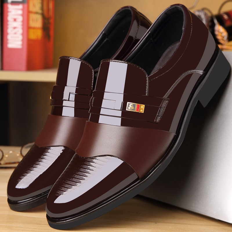 osco 2018 spring summer men shoes youth business british black casual genuine leather breathable dress office shoes men oxford Business Luxury OXford Shoes Men Breathable PU Leather Shoes Rubber Formal Dress Shoes Male Office Party Wedding Shoes Mocassins