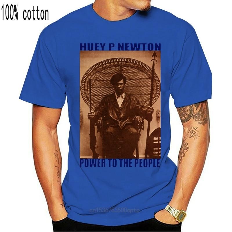 New Huey P 2021ton T-shirt, Malcolm X, MLK, Ferguson, Mike Brown, Nelson Mandela, 2021 Short Sleeve Plus Size t-shirt
