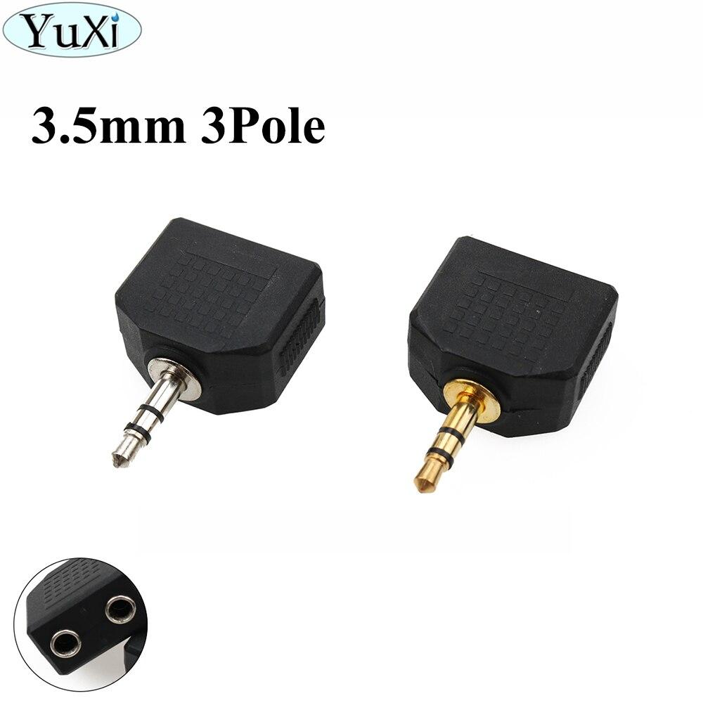 Conector Mono/estéreo de 3,5mm YuXi, 1 Uds., conector macho a hembra, 2 en 1, conector convertidor de enchufe de Audio de 3 polos, Conector de extensión adaptador