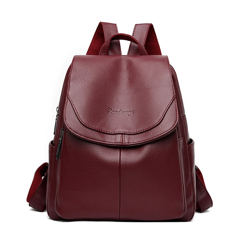 Hgih качество 2021 женские кожаные рюкзаки Sac Dos Дамский Рюкзак Винтажный большой дорожный рюкзак женский рюкзак обратно в школу