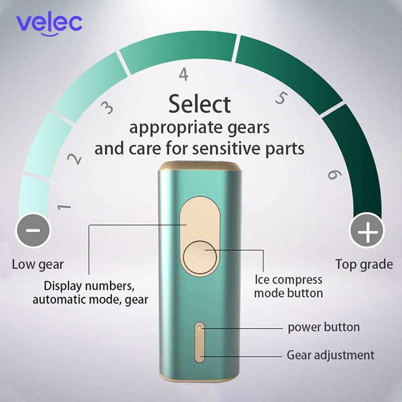 Velec IPL Laser Hair Removal Instrument Painless Permanent Electric Epilator Pulsed Light Device Hair Remover 500000 Flashes enlarge