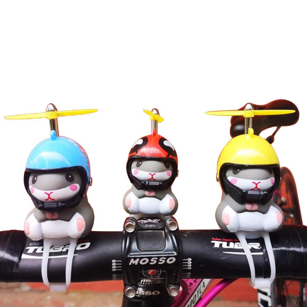 Aa luzes da bicicleta sino bonito amarelo pato hamster com chapéu guiador chifre lâmpada para motocicleta capacete do motor equitação ciclismo carro