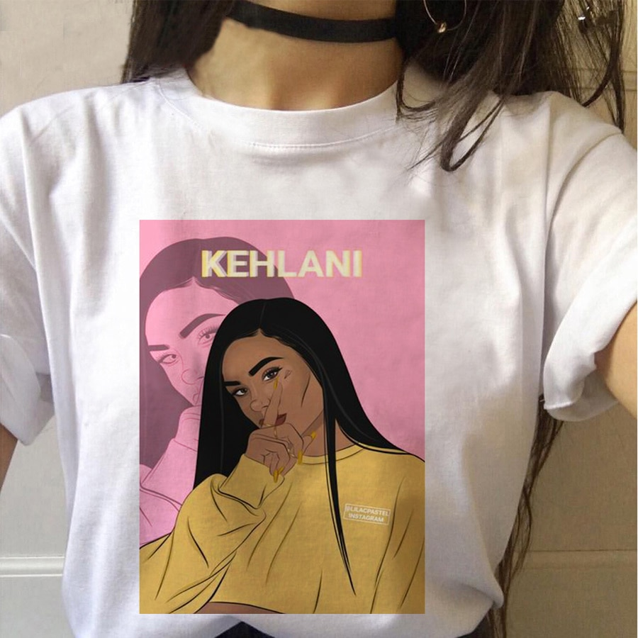 Kehlani Singer Streetwear Sexy t shirt Top Oversized Cotton Tee Female/Man T-Shirt Graphic Printed Casual Letters