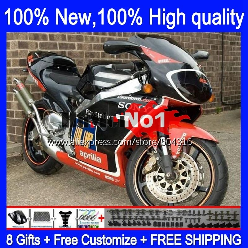 الجسم ل ابريليا RS250 RSV250RR RS-250 RSV250 R 105MC.6 RS 250 RSV 250 R RR 1995 1996 1997 RS250R أسود أحمر حار 95 96 97 هدية