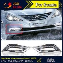 Offre spéciale! Hyundai Sonata DRL-cadre de feu antibrouillard   Phare de jour pour Hyundai Sonata drl 6000-2011, Super blanc, 12V 2012 k