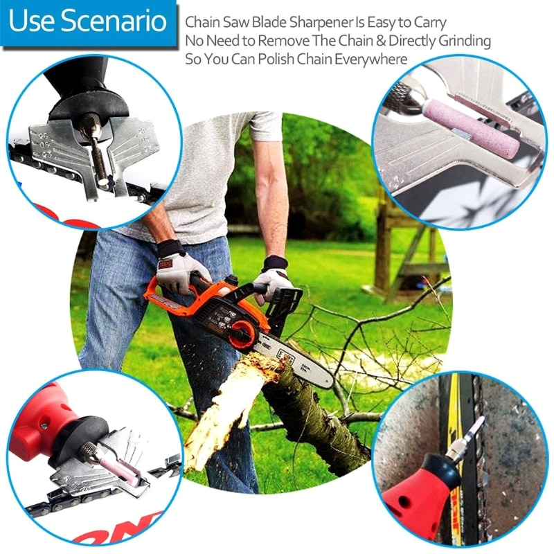 110 Volts Portable Handheld Universal Chain Teeth Sharpening Tool for Chainsaws enlarge