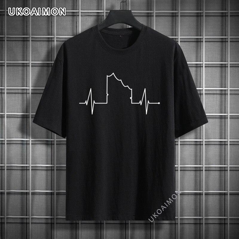 Горячая Распродажа, футболки с рисунком картины Гамбурга, осветительная модель, оригинальная хлопковая футболка высокого качества, модная ...