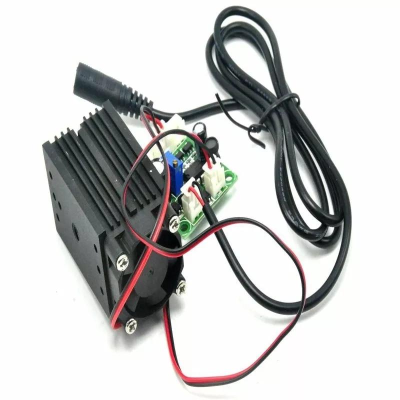 12 В 100 мВт фокусируемый 650 нм красный линия луч лазер диод модуль вентилятор долгое время работа 3350