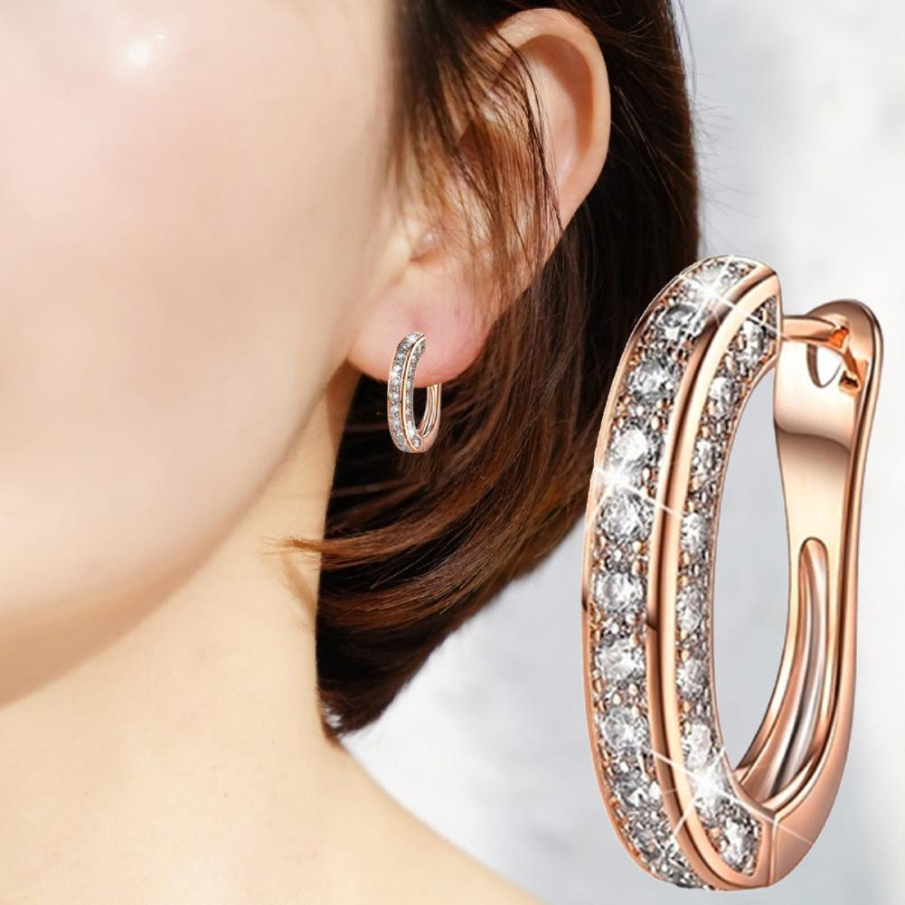 80% Hot Sale 1 Pair Earrings Charm Attractive Ring Shape Dainty Huggie for Women