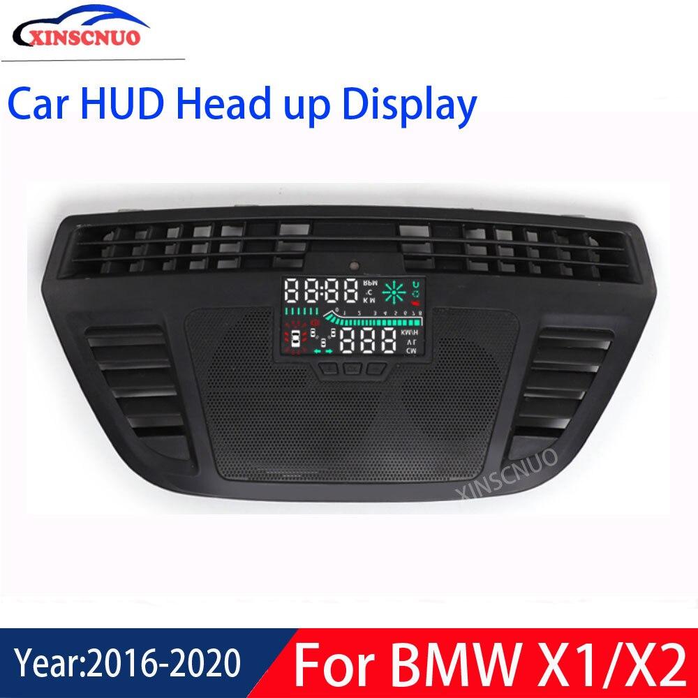 XINSCNUO voiture électronique voiture HUD tête haute affichage pour BMW X1/X2 2016 2017 2018 2019 2020 affichage tête haute compteur de vitesse projecteur