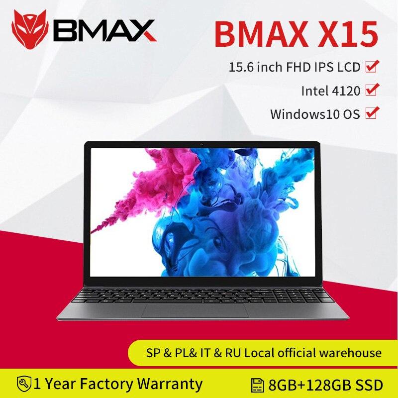 لابتوب بي ماكس X15 15.6 بوصة ويندوز 10 1920*1080 انتل جيميني ليك N4120 كواد كور 8 جيجابايت رام 128 جيجابايت SSD ROM نوت بوك واي فاي HDMI USB