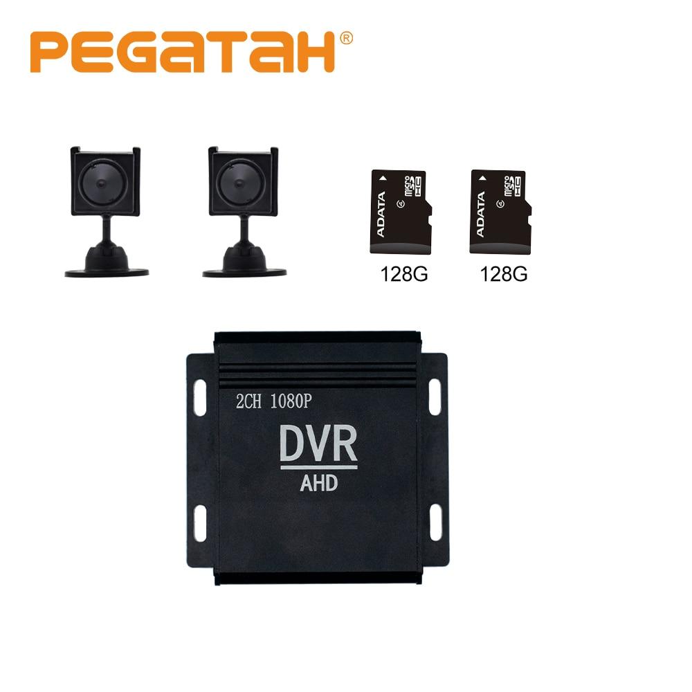 4-inch mini gravador dvr com ventilador embutido 1080p 2ch cctv dvr hd dvrs cctv kit hdmi cvbs sistema de segurança