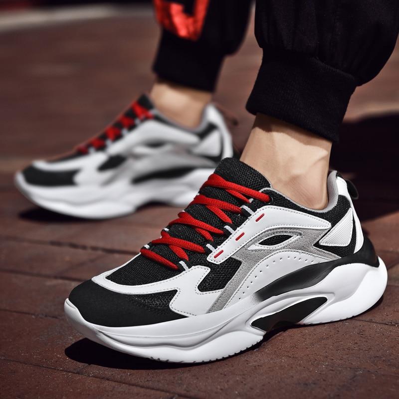 Zapatillas de deporte a la moda para hombre, Primavera, triangulación de envíos, parte inferior gruesa, zapatos de papá, marca gruesa, punta redonda, zapatos de ocio transpirables, balanciaga