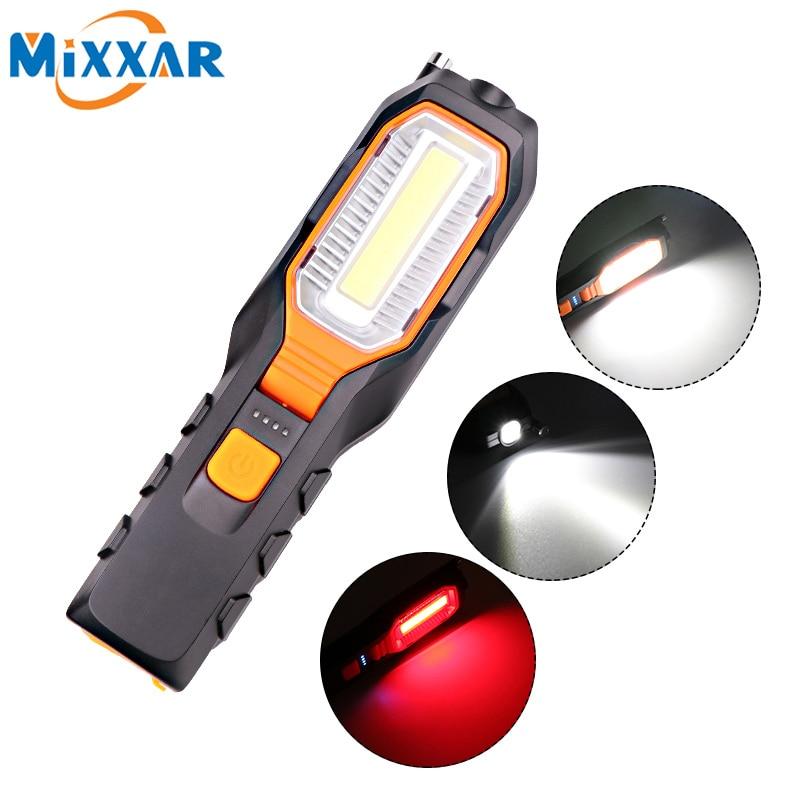 ZK20 COB LED Flashlight Rechargeable USB Working Light Flexible Magnetic Lamp Emergency Torch Lantern