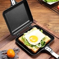 double side grill fry pan cookware stainless steel double face pan steak fry pan kitchen accessories cooking tool frying pan