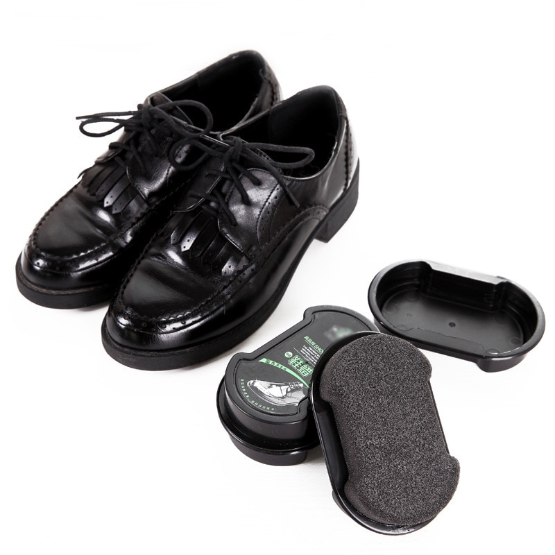 Один блеск Двусторонняя кожа щетка для обуви Крем для обуви щетка бесцветный обувной воск щетка Крем Для Обуви Губка Крем для обуви инструм...