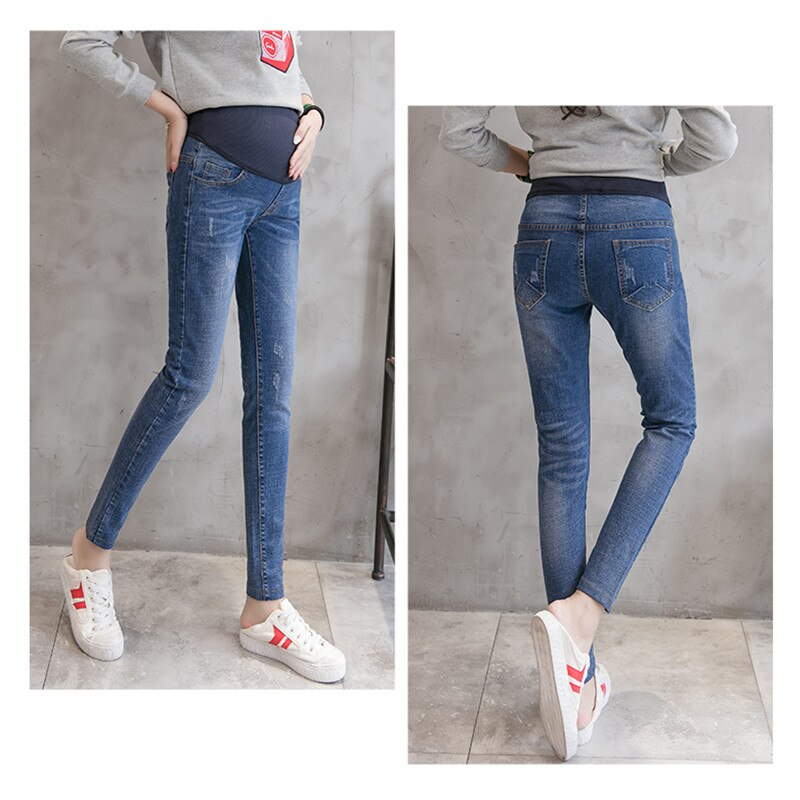 Maternity Leggings 2019 Autumn Winter Pencil Jeans For Pregnant Women Maternity Denim Trousers Pregnancy Clothing  Pants E0101 enlarge