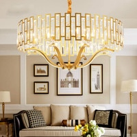 Living room gold pendant Nordic lamp bedroom pendant dining room lamp post modern LED crystal chandelier lighting LB121413