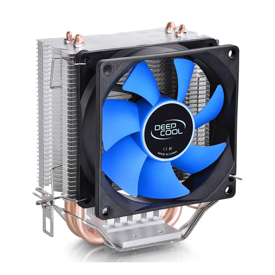 DEEPCOOL borde del hielo MINI FS V2.0 2 Heatpipes enfriador de CPU 80mm ventilador del radiador para intel LGA 775 1155 1156 AMD AM4 AM3 ventilador de refrigeración de la CPU