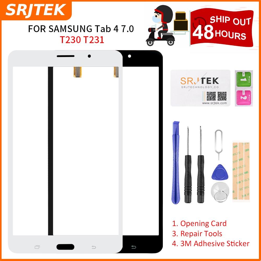 Srjtek 7 for for para samsung galaxy tab 4 7.0 t231 SM-T231 t230 SM-T230 tela de toque digitador do painel tablet peças reposição