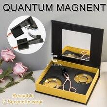 Bigoudi de cils magnétique fait main 2 paires avec ensemble de faux cils magnétiques doux quantique facile à porter ensemble de cils magnétiques