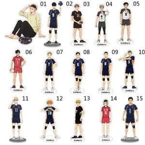 Haikyuu Hinata Kageyama Tsukishima Sugawara Family Acrylic Stand Figure Model Plate Holder Topper Anime Karasuno Xmas Gifts
