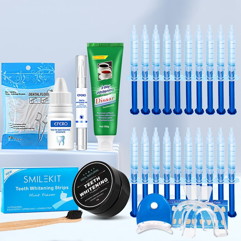 Dental Floss Picks Toothpicks Teeth Whitening Strips Toothpaste Toothbrush Powder Whitening Pen Essence Gel Kit