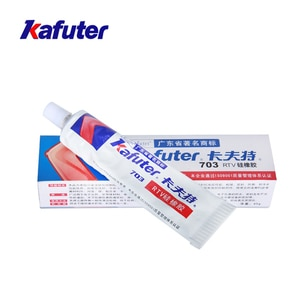 Kafuter K-703 45g Adhesive White Sealant Silicone Rubber Glue For Glass Metal Plastic Tiles Waterproof Insulation