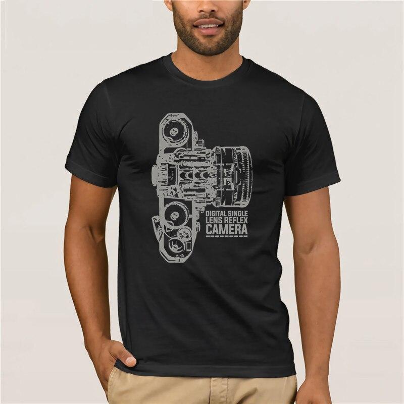 Camisetas cortas a la moda para hombres 2020 nueva moda lente reflex cámara marca Ropa Camisetas de 100% algodón