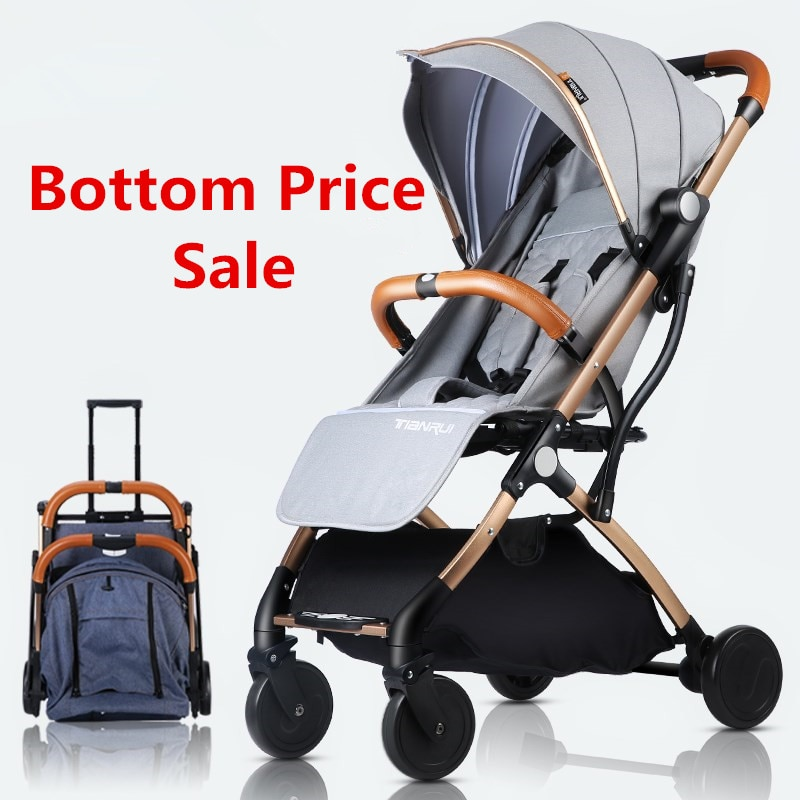 Baby Stroller Trolley Car Trolley Folding Baby Carriage 2 in 1 Europe Stroller Original Pushchair Plane Buggy Lightweight Pram