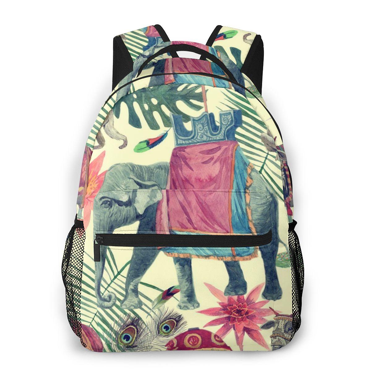 2020 Unisex elefante indio mono Pavo Real de viaje mochila mochilas escolares para libros Femenina de la escuela Casual de las mujeres