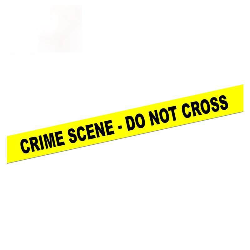 Personality Caution Tape Decal Crime Scene Not Cross Car Sticker Window Bumper Decoration Warning Stickers Apply To Car Window