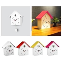 cuckoo clock pendulum bird housing hanging watch tabletop cabinet clock