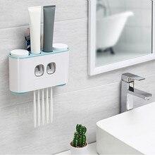 Automatique automatique presse-agrumes distributeur de dentifrice mains libres presser salle de bain accessoires outils ensemble de tasses boîte murale #30