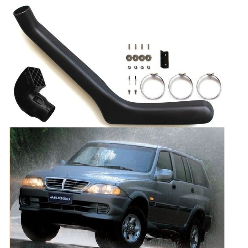 Auto Snorkel kit Exterior bodykits parts Air Intake LLDPE Pipe Fit For Ssangyong Ssang Yong Musso Car