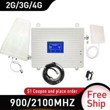 Amplificateur de Signal 4g 900/2100MHZ GSM UMTS WCDMA FDD LTE 2G 3G 4G amplificateur de Signal Mobile cellulaire Gain antenne 70db 2G 3G
