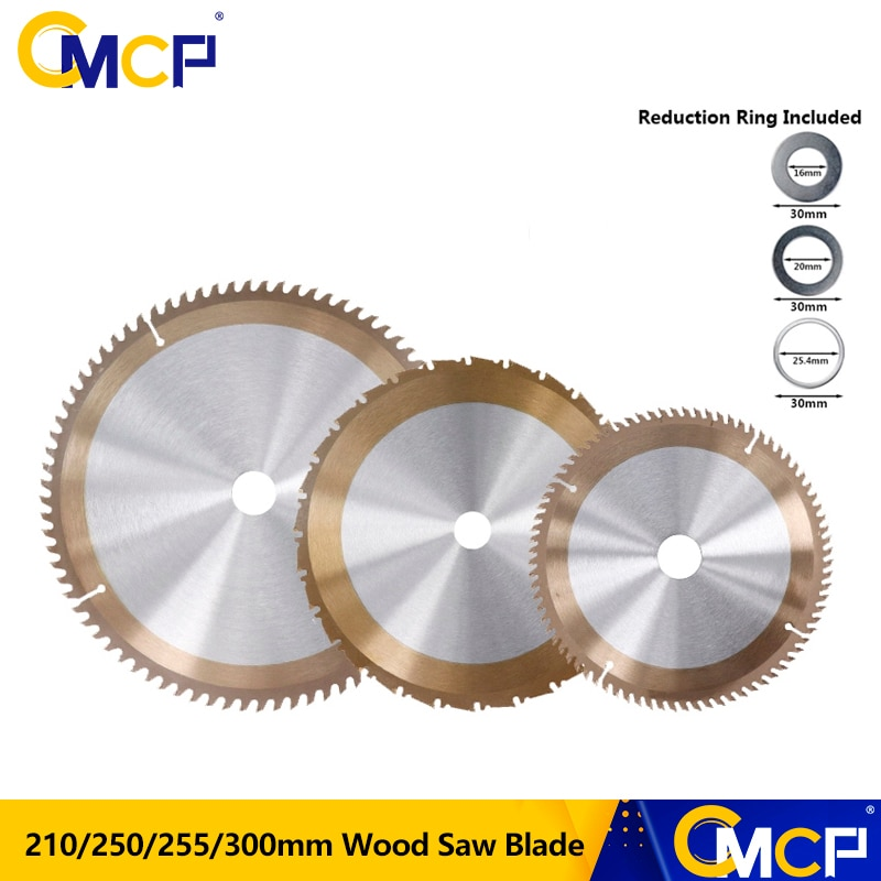 CMCP Woodworking Saw Blade Disc 210/250/255/300mm Circular Saw Blade TCT Wood Cutting Disc Carbide Saw Blades For Wood
