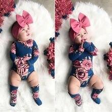 Pudcoco-barboteuse fleurie pour bébés filles   2020, combinaison jambières, vêtements