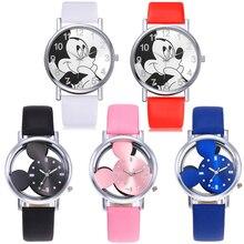 Reloj Infantil الأطفال مشاهدة الفتيات الفتيان هدية الطلاب على مدار الساعة ميكي الاطفال الساعات الطفل مقاوم للماء والجلود كوارتز ساعة رقمية